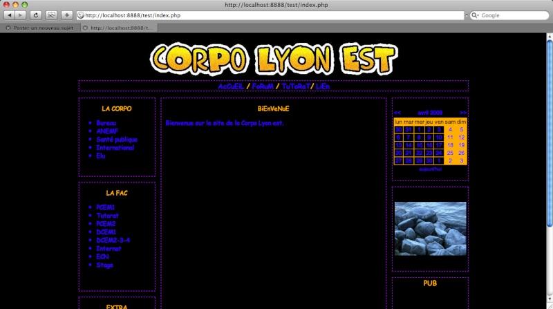 une partie à rajouter => LE SITE DE LA CORPO Site10