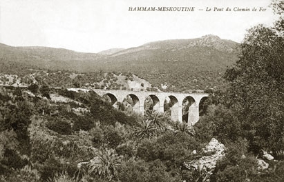 صورة قديمة لجسر سكة الحديد (القنطرة تاع الشاوش) 0409910