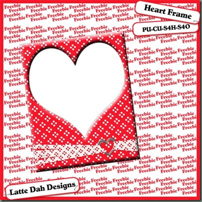 Valentine Heart Frame - By: Scrappin A Latte' Heartf10