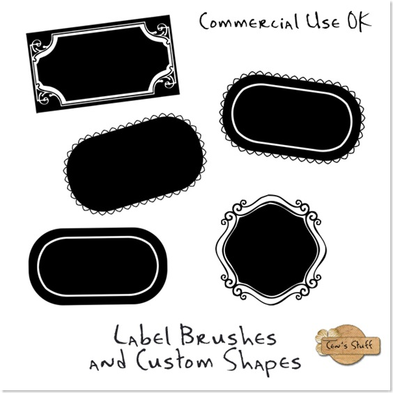 Labels Brushes and Custom Shapes - By: Cen's Loft Jsch_l10