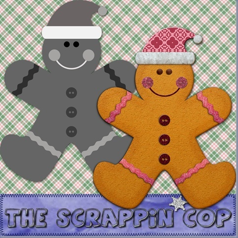 CU Gingerbread Man Layered Template By: The Scrappin Cop Sc_cug10