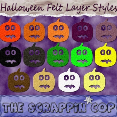 Halloween Colors CU Felt Layer Style Sc_hal10