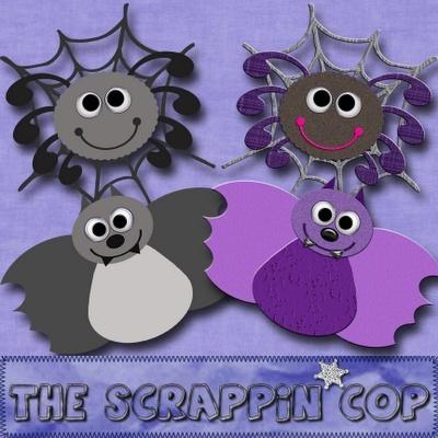 Bat and Spider Templates Scrapp10