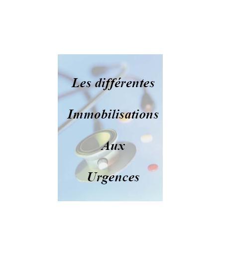 Les differentes immobilisations aux urgences Immobi10