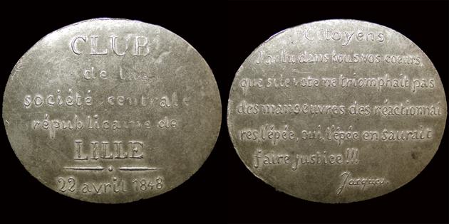 Médailles de la Révolution 1848 (pour Lille) 160110