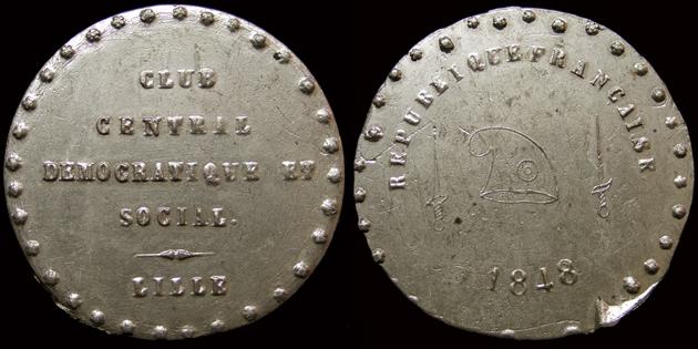 Médailles de la Révolution 1848 (pour Lille) 160210