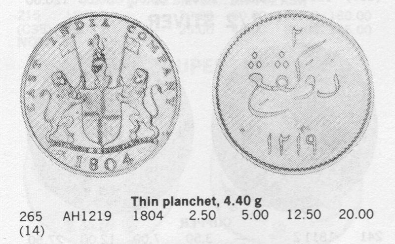 """""""2 KEPINGS"""" de cuivre au millésime de 1804 ap. J.-C. East_i10"""