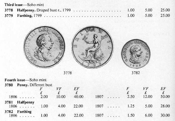 monnaie pour la Grande Bretagne, pour Georges III George10