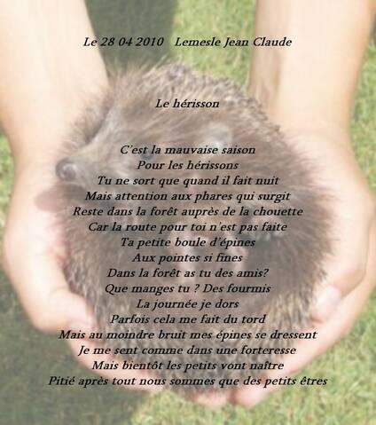 Le Herisson Poeme De Jcl