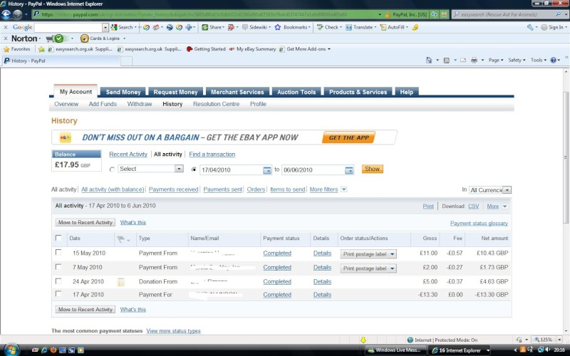 RAFA Paypal Account Paypal11