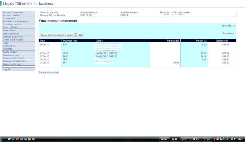 RAFA Bank Account Rafa_b17