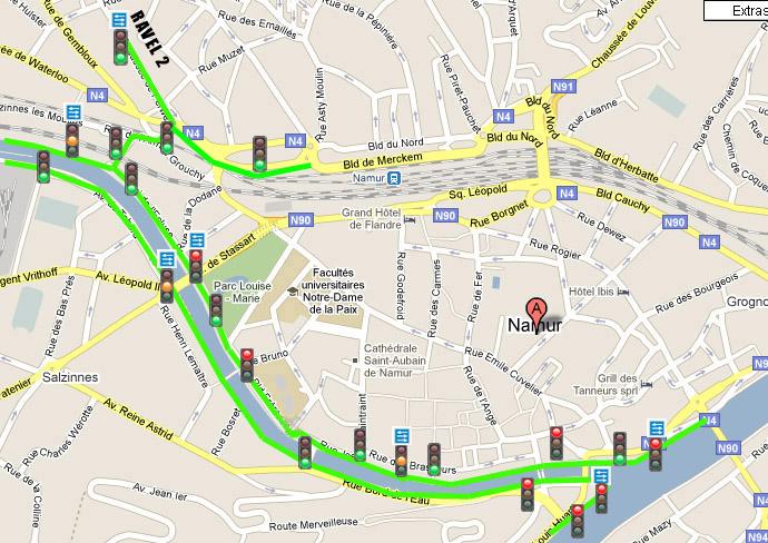 RAVeL 1 Centre (Part 5b) Tamines - Namur - Eurovelo 3 - Itinéraire n°6 - Page 2 Carte13