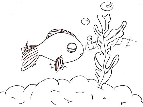 pas à pas poisson rouge / poisson clown (drawny) Poisso11