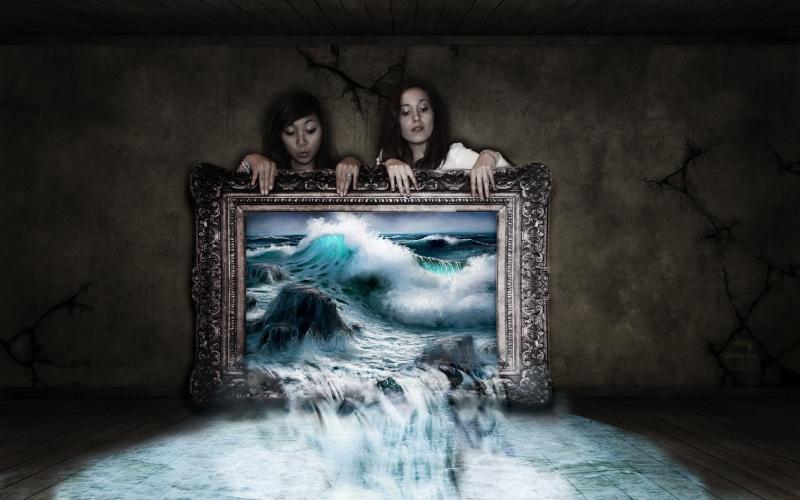 chute d'eau dans un tableau Tablea10