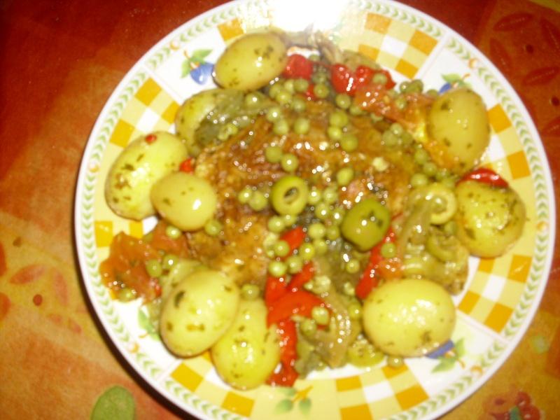 Poulet au four et ses petit légumes Dsci0030