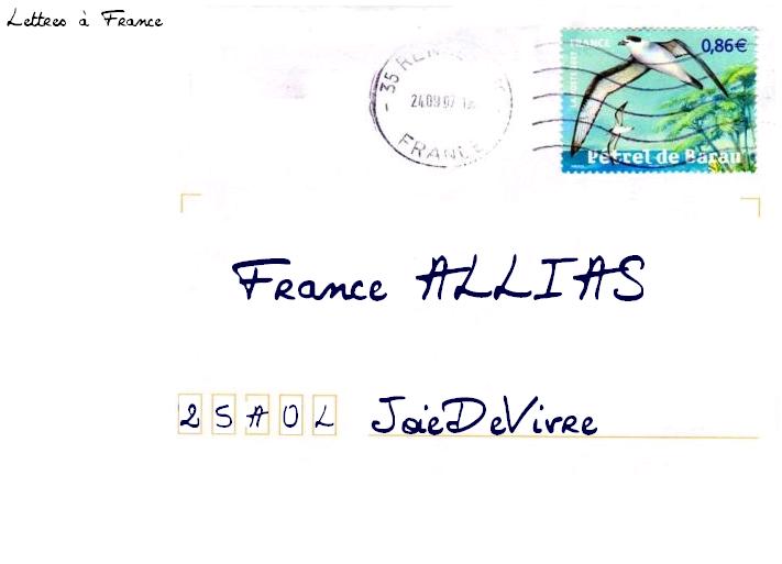 [arrêté] Lettres à France 010