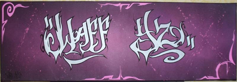 """toile """"WAFF YZ"""" Waffyz10"""