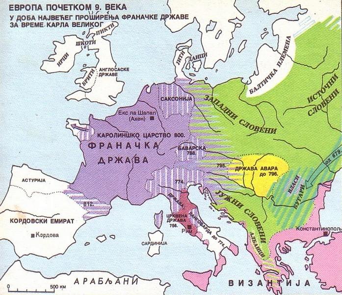Evropa početkom IX. veka Evropa10