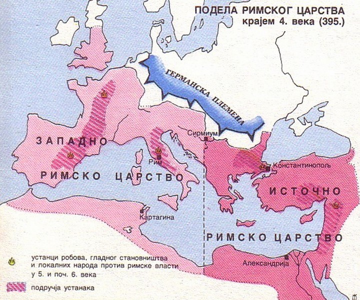 Podela Rimskog Carstva 395 godine Podela10