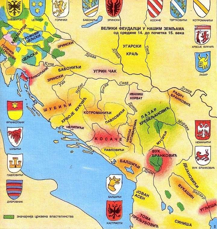 Veliki feudalci u zemljama YU od sredine XIV do početka XV veka Veliki10