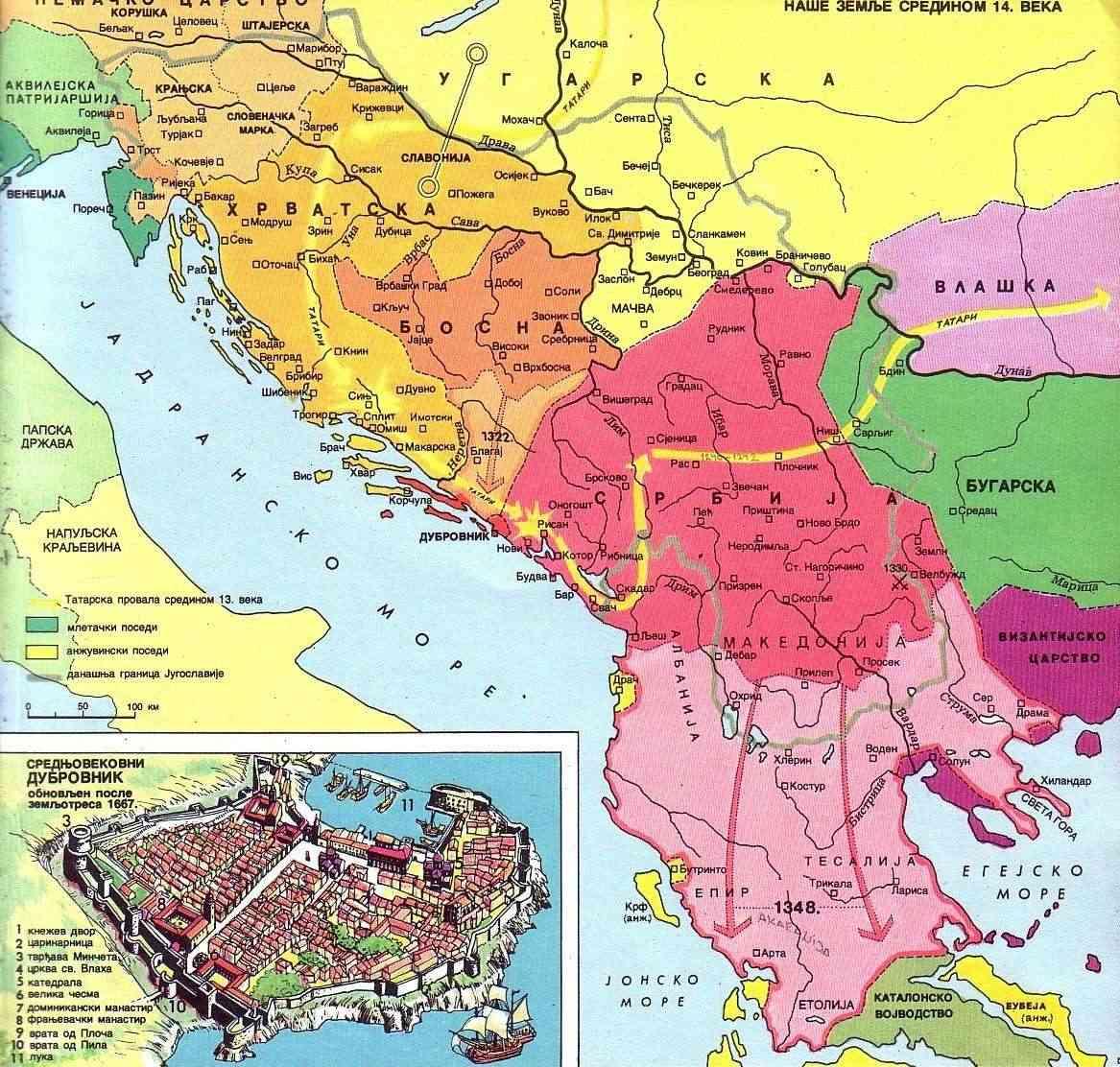 Zemlje stare YUgoslavije sredinom XIV veka Zemlje10