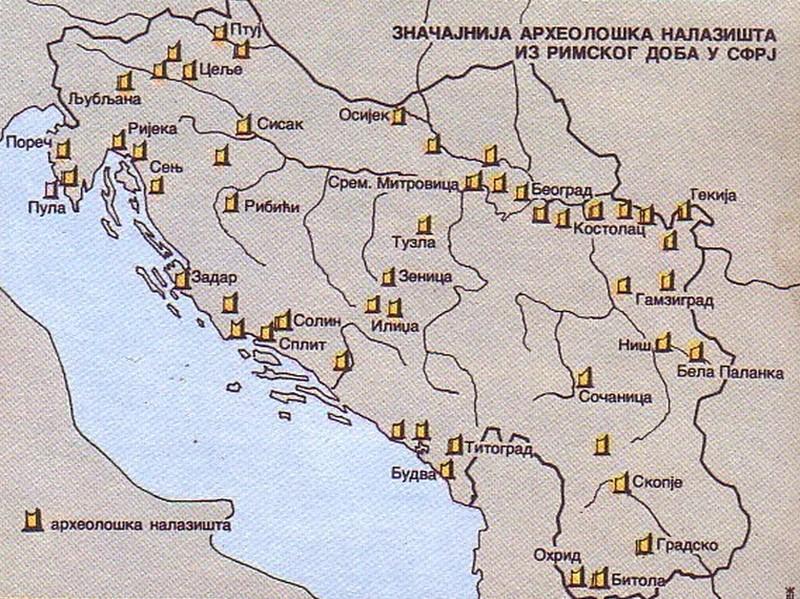 Značajnija arheološka nalazišta iz Rimskog doba u YU Znaaaj10