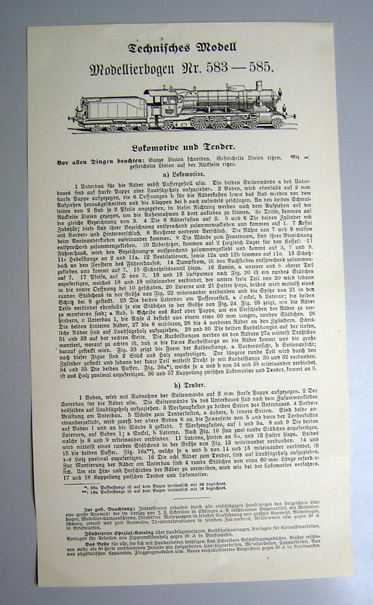 Schreiber-Reprint des Landesmuseum Stuttgart - Dampflok Württembergische C Anleit13