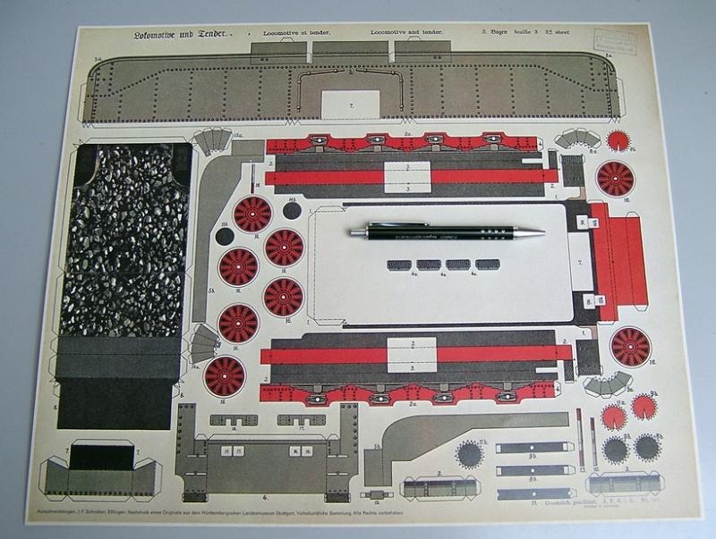Schreiber - Reprint des Landesmuseum Stuttgart - Dampflok Bad. IVh Lok_bl12