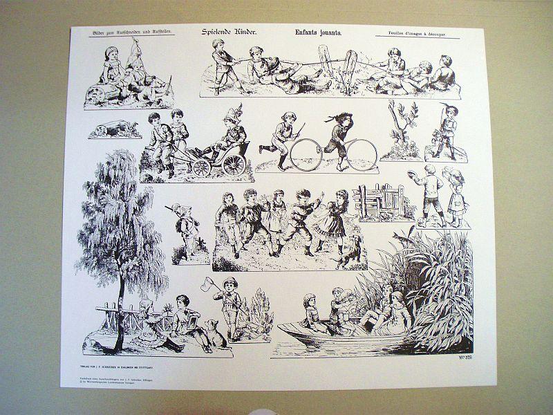 Aufstellbilder - Reprint J.F.Schreiber-Verlag Spiele10