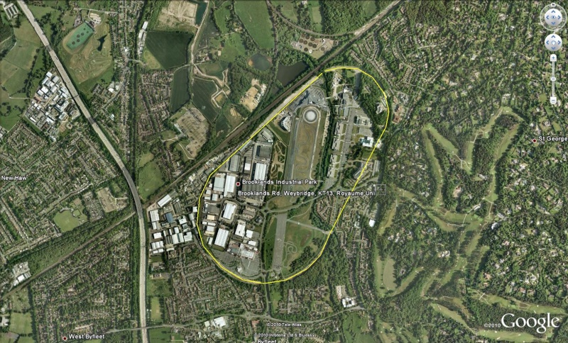 Circuit Brooklands à Weybridge - UK - Royaume-Uni Brook210