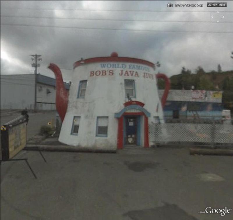 Cafetière géante à Tacoma, Washington - USA Cafe110