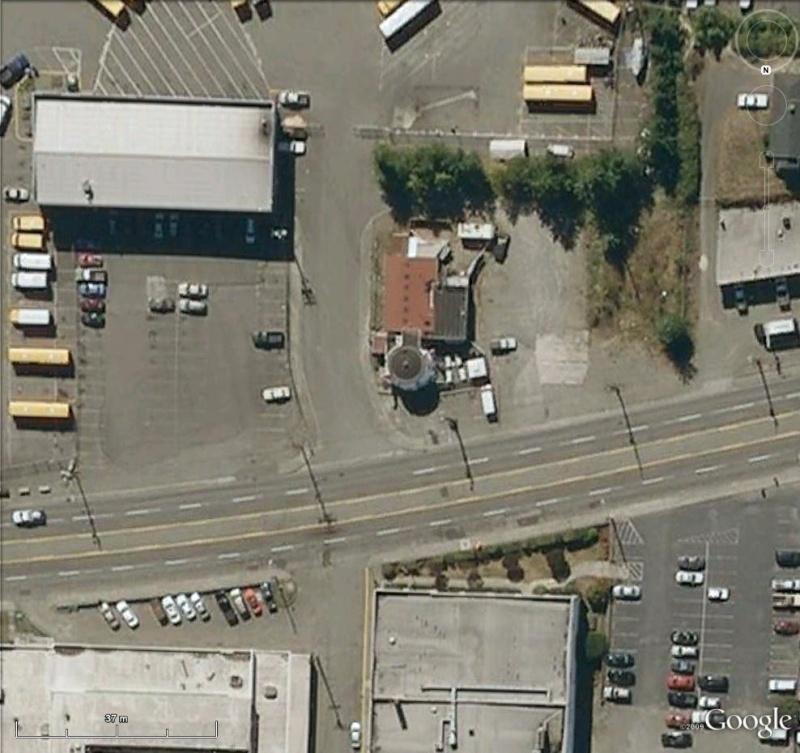 Cafetière géante à Tacoma, Washington - USA Cafe210