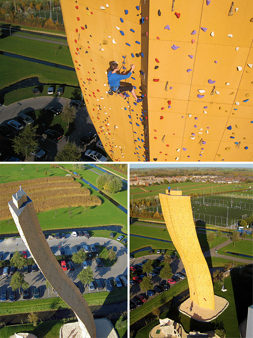 Excalibur, le mur d'escalade le plus haut du monde (Groningen, Pays Bas) Excali10