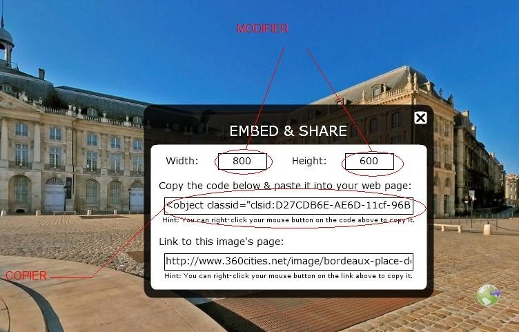 Photos 360° cities : comment les insérer dans un post??? [Astuces du forum] Tuto1b11