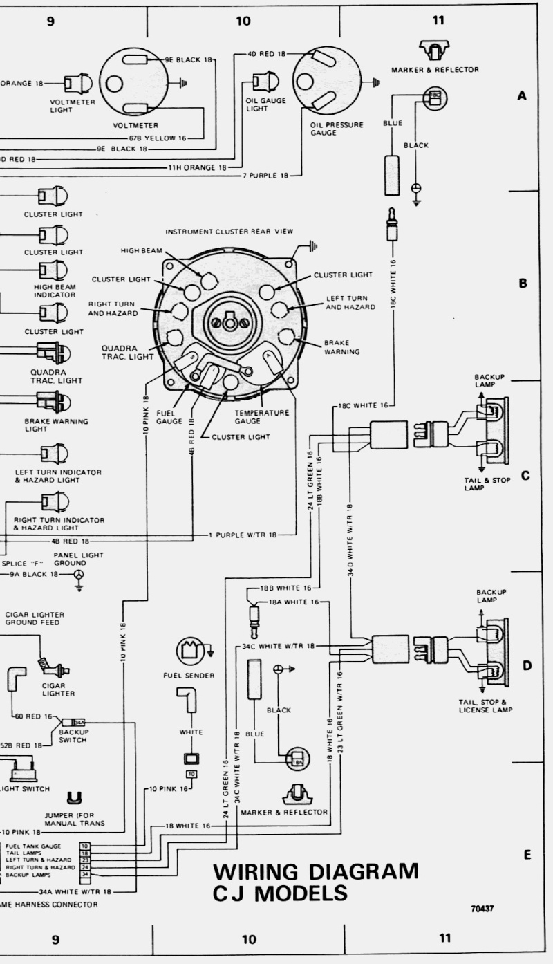 faisceau electrique remorque schema
