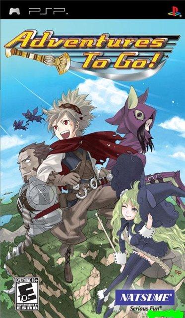 Фасад обложки и скриншот игры PSP (А). Advent12