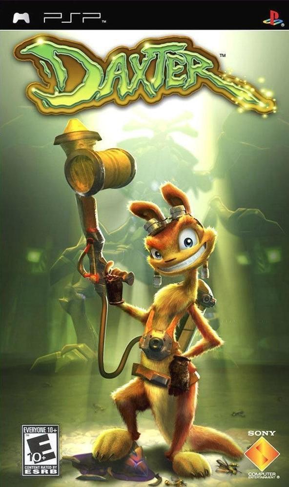 Фасад обложки и скриншот игры PSP (D). Daxter10