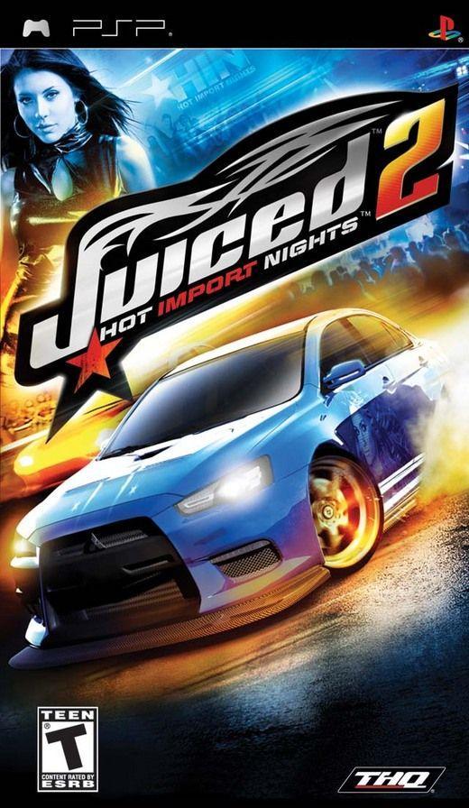 Фасад обложки и скриншот игры PSP (J). Juiced10