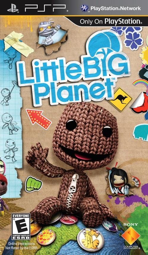 Фасад обложки и скриншот игры PSP (L). Little13