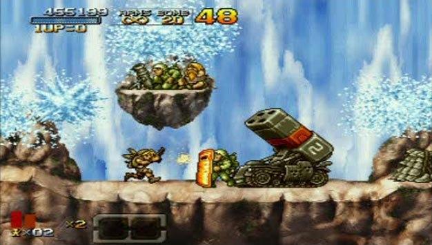 Фасад обложки и скриншот игры PSP (M). Metal_11
