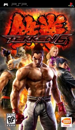 Фасад обложки и скриншот игры PSP (T). Tekken10