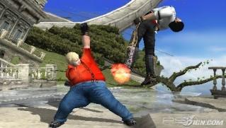 Фасад обложки и скриншот игры PSP (T). Tekken11