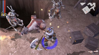Фасад обложки и скриншот игры PSP (U). Unt_le11