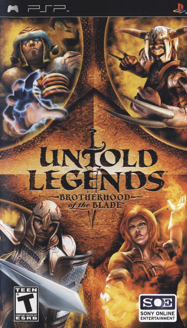 Фасад обложки и скриншот игры PSP (U). Untold10