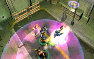 Фасад обложки и скриншот игры PSP (X). X-men_12