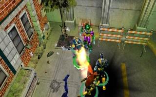Фасад обложки и скриншот игры PSP (X). X-men_13