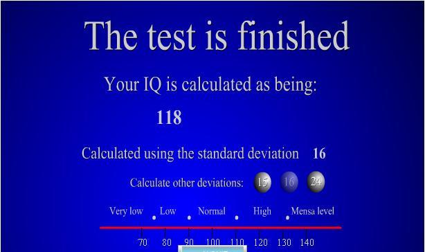 scores flash Iqtest10