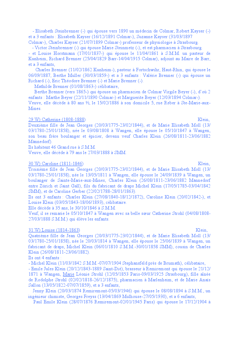 Généalogie des Strohl de Wangen 1010