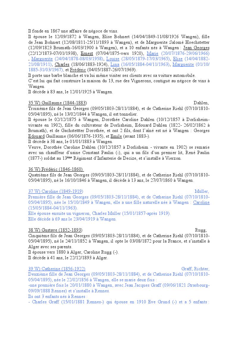 Généalogie des Strohl de Wangen 1210