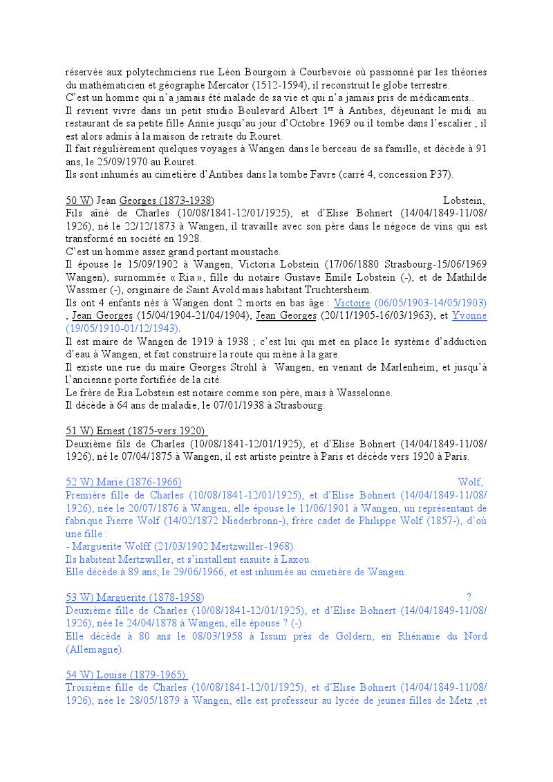 Généalogie des Strohl de Wangen 1610